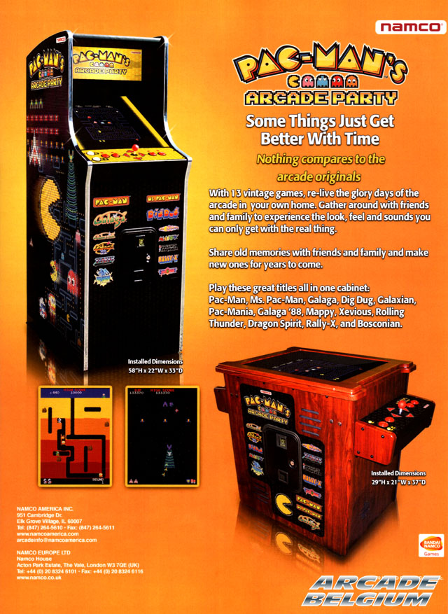 Pac-Man's Arcade Party Pmap01