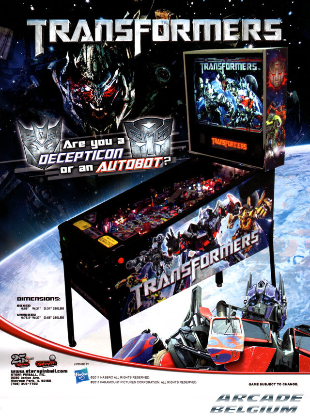 [Pinball] Transformers Transformers01